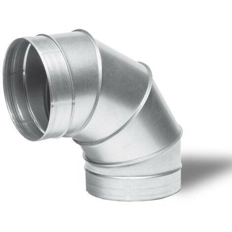 Raccord - Angle métal 90° 125mm - Winflex ventilation