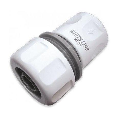 Raccord automatique avec STOP pour tuyau d'arrosage 19 mm (Lot de 2)
