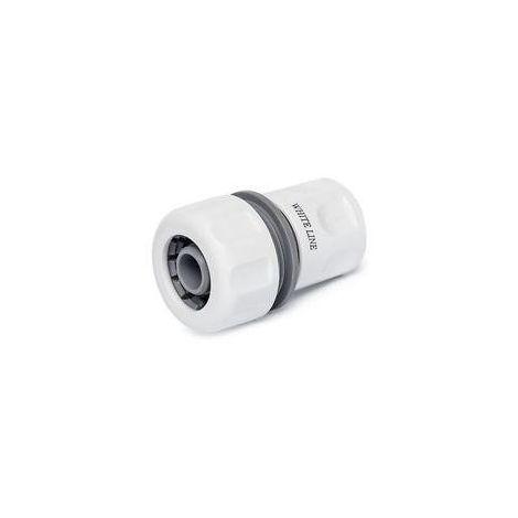 Raccord automatique WHITE LINE pour tuyau d'arrosage 19mm (Lot de 2)