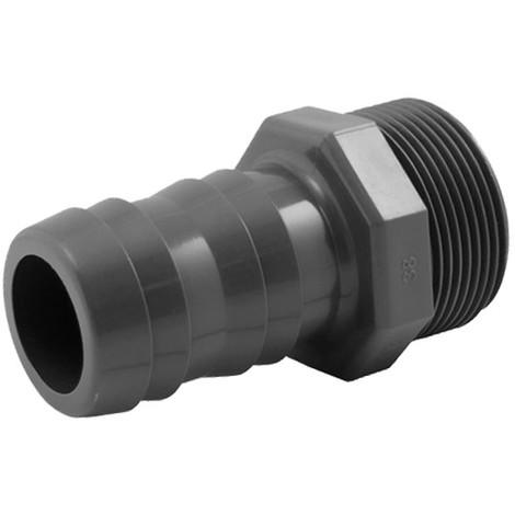 Raccord cannelé PVC pression à visser M - Générique - Plusieurs modèles disponibles