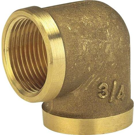"Raccord coudé de tuyau GARDENA 07280-20 laiton 24,2 mm (3/4"") (filet int.) Q019041"