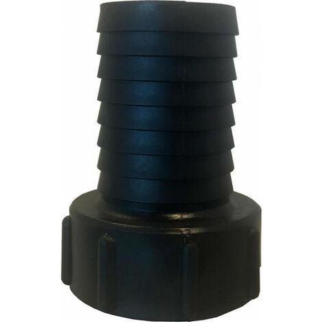 Raccord de bidon IBC avec buse rainurée. PP.IBC IG 2 (S60x6) -1.1/4. 38mm