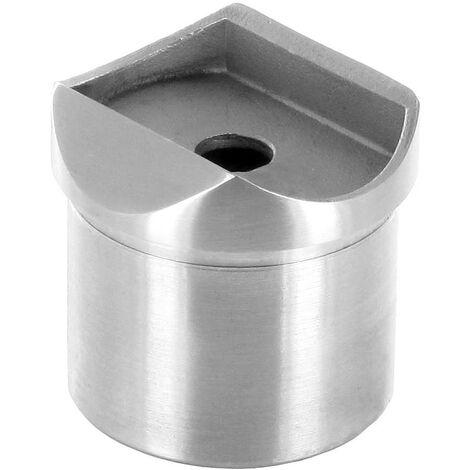 Raccord de jonction poteau-Tube pour tube Diam 42,4 x 2mm inox brossé AISI 304