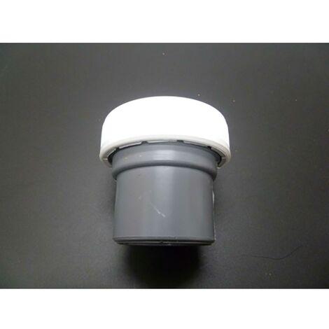 Raccord de plomberie mixte 40Mm-11/2' Pvc Blanc/Gris Saneaplast 750076