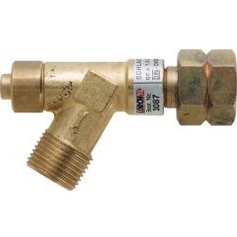 Raccord de sécurité pour tuyau flexible, Pression du gaz : 1,5 bar, Puissances à qn (kg/h) de 4,0 bar 2,2