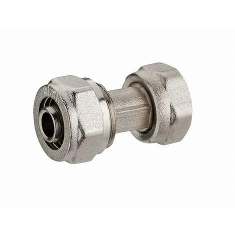 Raccord droit à compression pour tube multicouche NOYON & THIEBAULT - Ø 20 mm à visser femelle écrou libre F1/2' (15x21) - 3915-1520L1