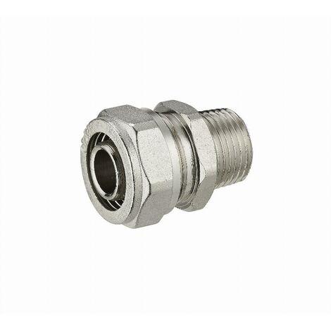 Raccord droit à compression pour tube multicouche NOYON & THIEBAULT - Ø 20 mm à visser mâle M1/2' (15x21) - 3900-1520L1