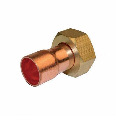 Raccord droit à écrou prisonnier laiton à visser / souder (x2) - 359 G-CL - plusieurs modèles disponibles