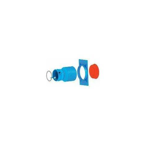 Raccord droit conduit 90 sur plenum - TubFlex HRP 75 UNELVENT - 810111 Raccord droit sur plénum pour conduit semi-rigide 75 mm Unelvent avec joint détanchéité