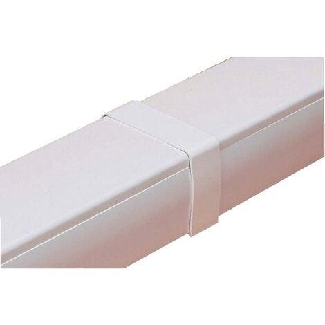 Raccord droit Goulotte Super Optimal - blanc 9003 80x60