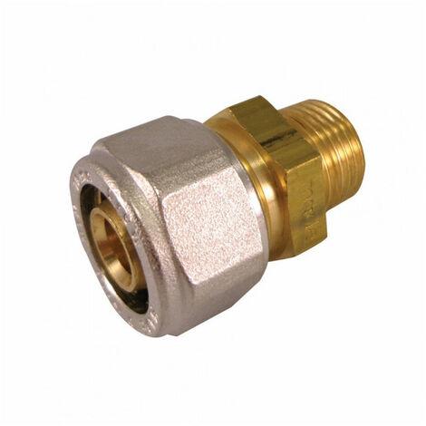Raccord droit mâle à compression pour tube Multicouche - plusieurs modèles disponibles