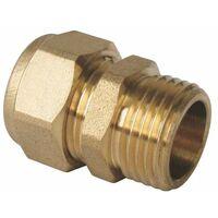 Raccord droit mâle à compression pour tube PER - plusieurs modèles disponibles