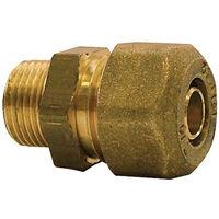 Raccord droit mâle à compression pour tube PER- plusieurs modèles disponibles
