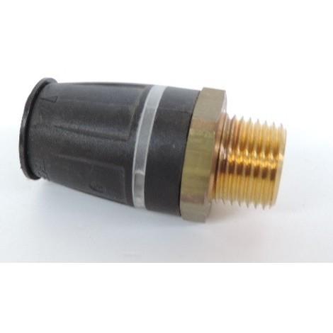 """Raccord droit mâle pour tube multicouche Ø 20mm M15X21 (20 x R 1/2"""") bi-matière laiton / PPSU plomberie TECELOGO TECE 8710104"""