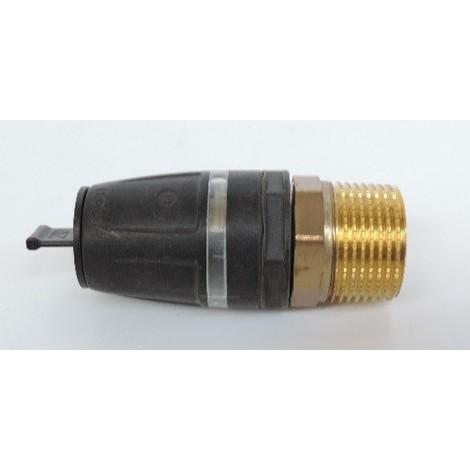 """Raccord droit mâle pour tube multicouche Ø 20mm M20X27 (20 x R 3/4"""") bi-matière laiton / PPSU plomberie TECELOGO TECE 8710105"""