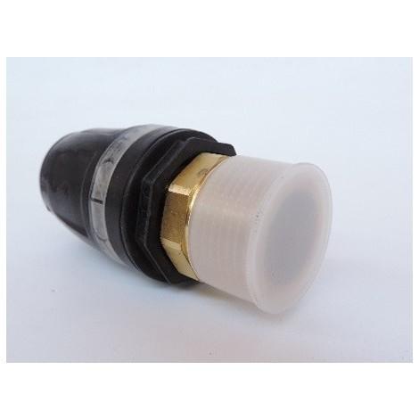 """Raccord droit mâle pour tube multicouche Ø 32mm M26X34 (32 x R 1"""") bi-matière laiton / PPSU plomberie TECELOGO TECE 8710116"""