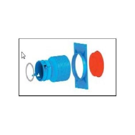 raccord droit pour bouche - Bleu - Bleu