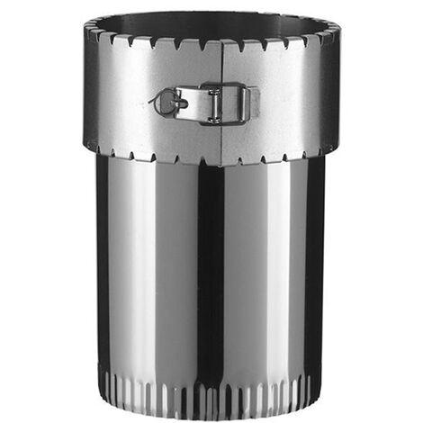 Raccord émaillée sur tubage flexible pour poêle à bois - Diamètre : 150/150