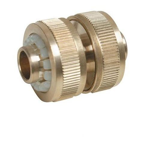 Raccord en laiton 1/2'' pour tuyau d'arrosage - 633535 - Silverline