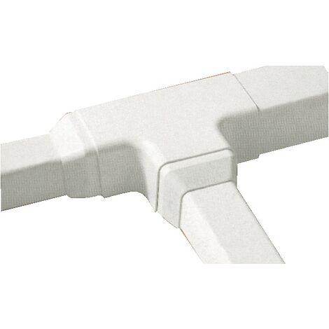 Raccord en T Goulotte Super Optimal - blanc 9003 80x60