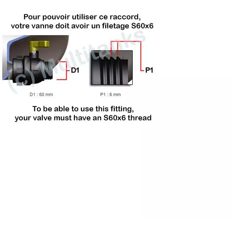 """3//4/""""BSP Réservoir Adaptateur snap-on Tuyau Connecteur Avec Inline Filtre à eau."""