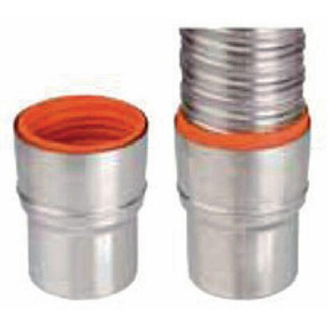 Raccord flexible/rigie inox 316 diamètre 80 - 86 pour chaudières condensation