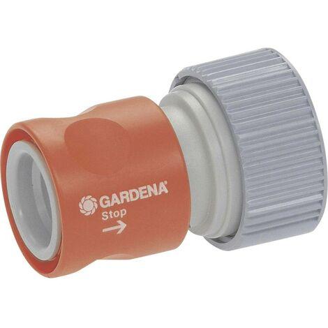 Raccord GARDENA 02814-20 avec système aquastop raccord enfichable, Ø 19 mm (3/4)