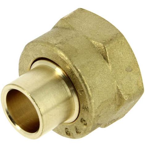 Raccord gaz 2 pieces femelle 20-150 pour tube cuivre O10