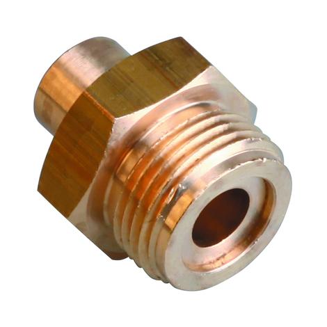 Raccord gaz b-p Fer/Cuivre Mâle à souder 1p 20x150/cu 10 la piece
