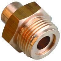 Raccord gaz b-p Fer/Cuivre Mâle à souder 1p 20x150/cu 14 la piece
