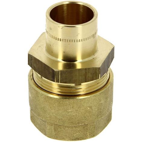 Raccord gaz naturel N.F. à braser cuivre Ø18 tube PE Ø20