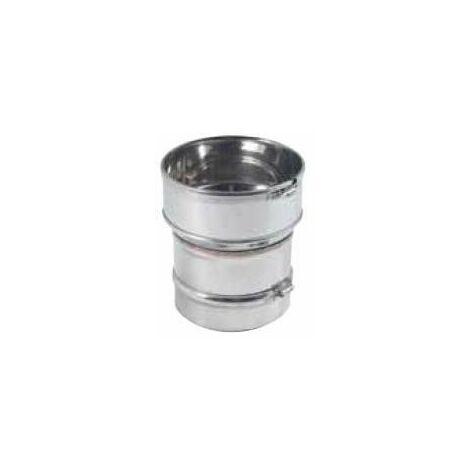 Raccord inox poêle pour tubage flexible, D.125x180/186