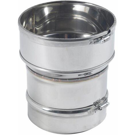 Raccord inox Poêle pour tubage flexible D.153x180/186