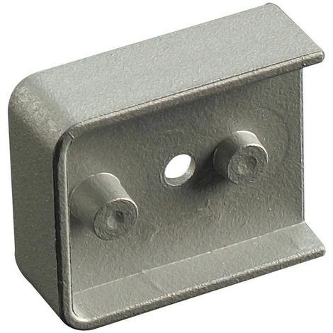 Raccord intermédiaire pour profil support - Décor : Gris - Matériau : PVC - MENAGE&CONFORT