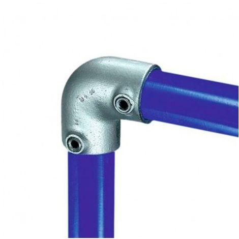 Raccord KEE KLAMP 15-7 coudé 90° pour tubes D. 42,4 mm - Galvanisé - KEE15-7