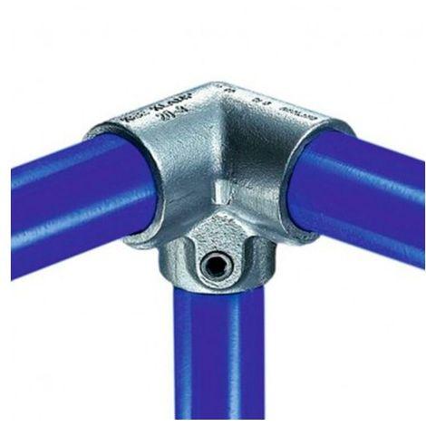 Raccord KEE KLAMP 20-4 coudé en T à 90° pour tubes D. 21,3 mm - Galvanisé - KEE20-4