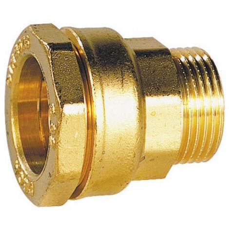 """raccord laiton ø 25 mm par 3/4"""" pour tube PE"""