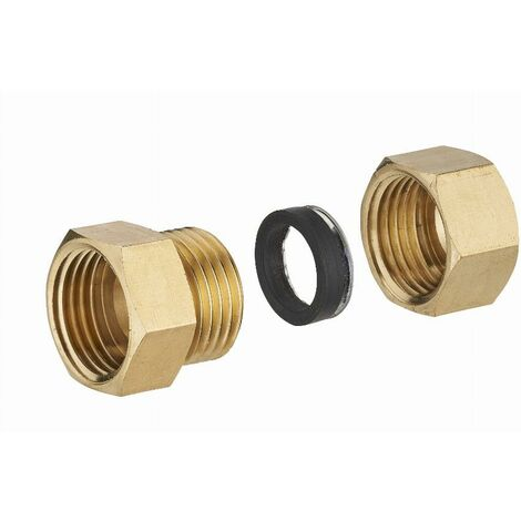 Raccord laiton à joint mixte femelle F3/8 (12x17) pour tube cuivre NOYON & THIEBAULT - Ø 10 mm - 413G-1210L1