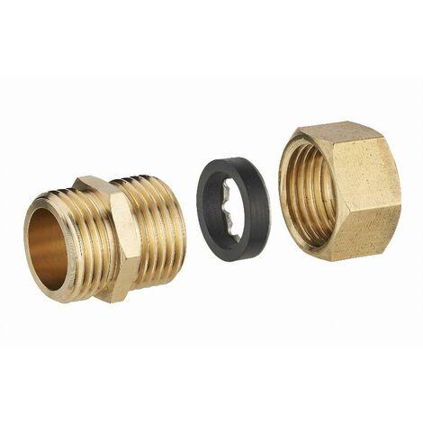 Raccord laiton à joint mixte mâle M3/8 (12x17) pour tube cuivre NOYON & THIEBAULT - Ø 10 mm - 412G-1210L1