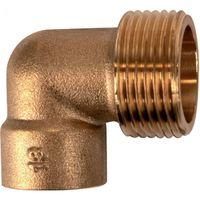 /Ø 16 mm Raccord laiton coud/é 90/° /à souder 92GC M 1//2 Thermador