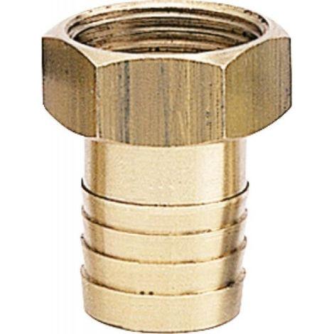 Raccord laiton écrou libre, diamètre 20/27 mm, pour tuyau diamètre intérieur 16 mm