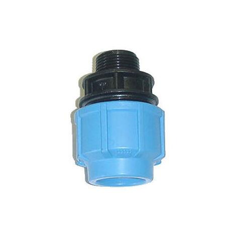"""main image of """"Raccord Mâle en polypropylène - Pour raccordement polyéthylène - Diamètre 32 mm - Filetage 26/34"""""""