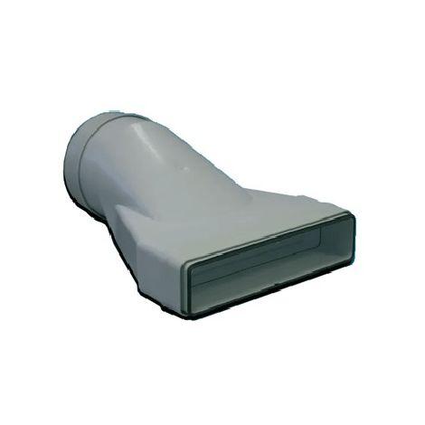 Raccord mixte droit pour conduit rectangulaire PVC rigide - 55 x 220 x ø125mm - Avec joint