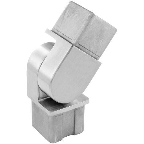 """main image of """"Raccord orientable pour tube carré de 40 x 40 x 2mm en inox brossé AISI 316"""""""