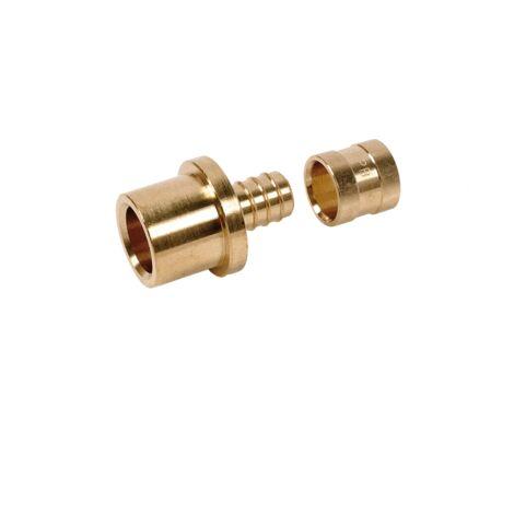 Raccord PER à glissement adaptateur cuivre/PER