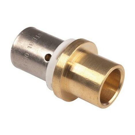 Raccord PER à sertir adaptateur cuivre/PER