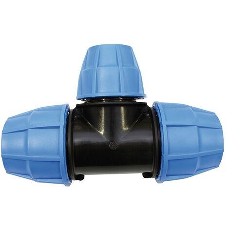 Raccord plastique tube PE Ø50 - Raccord en Té
