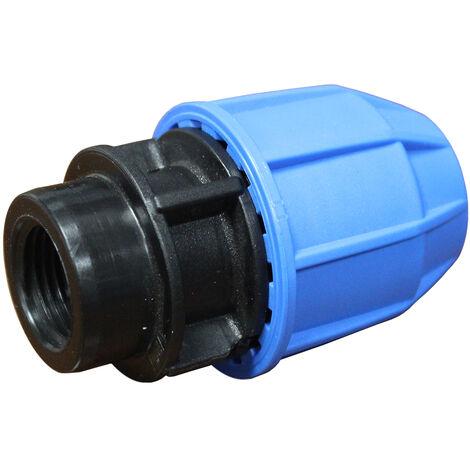 """Raccord plastique tube PE Ø63 - Droit Femelle 2"""" (50/60)"""
