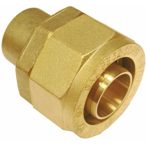 Raccord pour tube PE BD6222 à braser sur cuivre : 22 DN : cal. 20 diamètre : PE 32