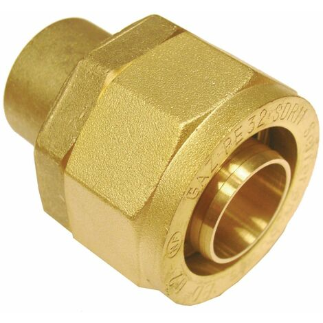 Raccord pour tube PE BD6222 à braser sur cuivre : 28 DN : cal. 25 diamètre : PE 32